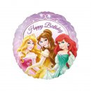 Folienluftballon Disney Princess Happy Birthday 45 cm