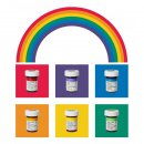 Wilton Gelfarben Regenbogenmix (Golden Yellow, Leaf Green, Royal Blue, Red Red, Orange, Violet)
