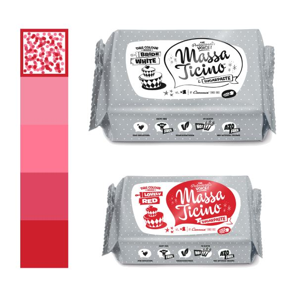 Massa Ticino Color Mixing Rot / Weiss