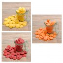 Candy Melts - Sonnenaufgang groß - 240 g (gelb, orange, rot)