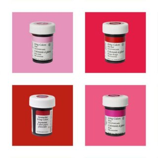 Wilton EU Icing Color Kit 4 x 28g (Red Red, Pink, Rose, Christmas Red)