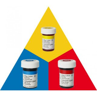 Wilton EU Icing Color Kit 3 x 28g (Red Red, Golden Yellow, Royal Blue)